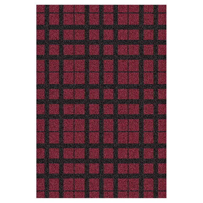 Tapis décoratif « Luxuria », rouge, 5 pi x 7 pi