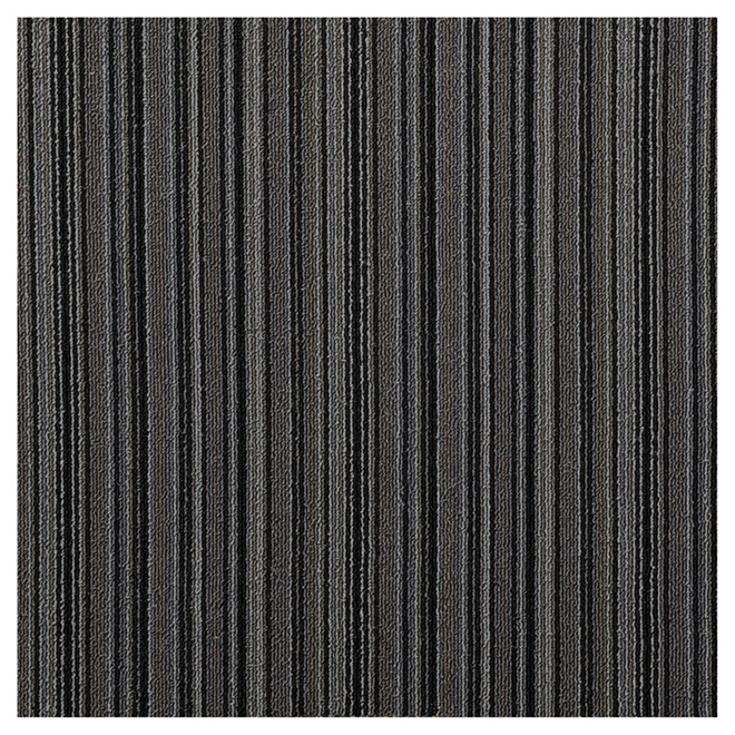 "Carpet Tiles - Polypropylene - 20"" x 20"" - Grey - 20/Box"