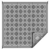 Outdoor Rug - Grey - 9' x 12'