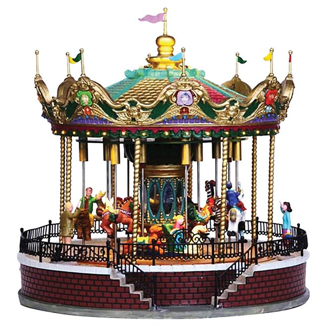 Village miniature « Carrousel animé Sunshine »
