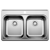 Double Drop-in Sink, Essential 2, Stainless Steel