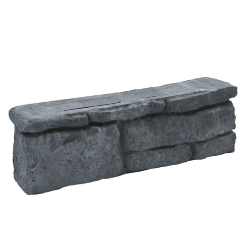 "Concrete Garden Wall Block - 5.5"" x 17.5"" - Grey"