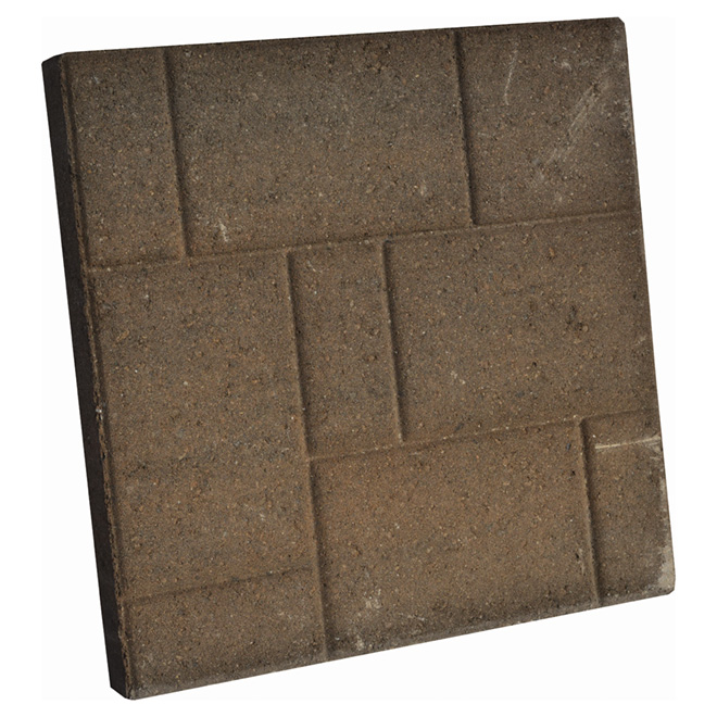 "Tiled Patio Slab - 16"" x 16"" - Charcoal/Beige"