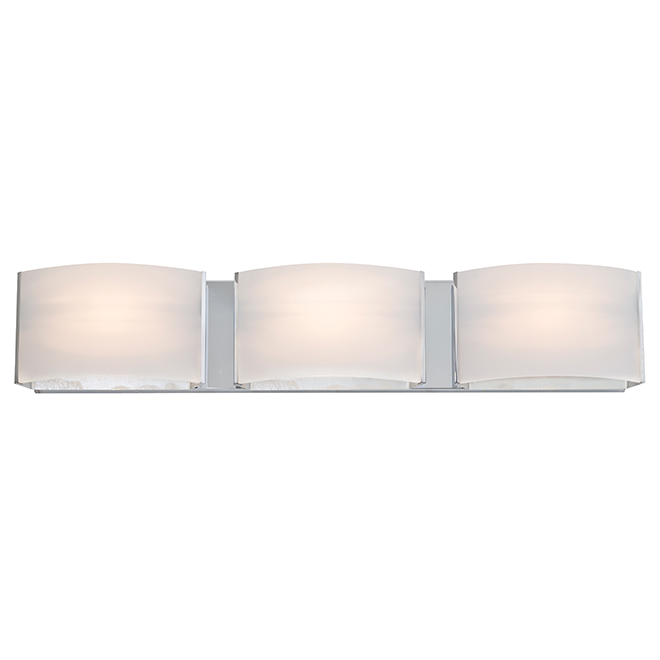 Bathroom Vanity Lights Rona 3-light wall sconce - glass/metal - chrome | rona