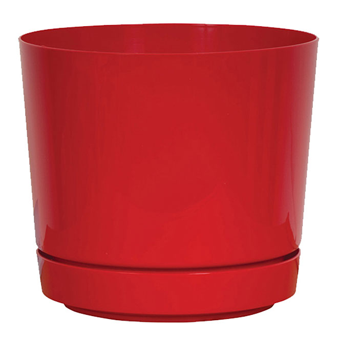 Pot and Saucer - Red