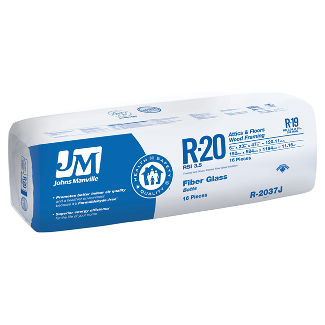 Fiberglass Building Insulation - R20 - Brown