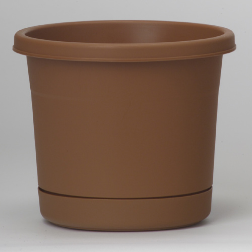 Pot and Saucer - Terracotta