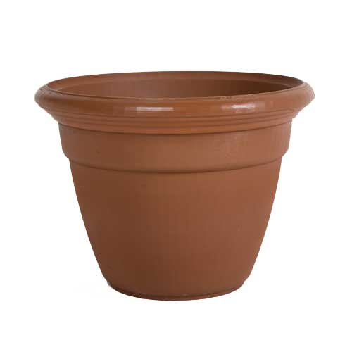 "Planter with ""Snap-Fit"" Rolled Rim"