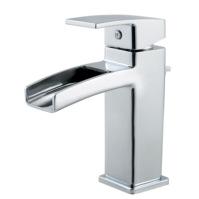 Kamato lavatory faucet polished chrome rona for Robinet salle de bain rona