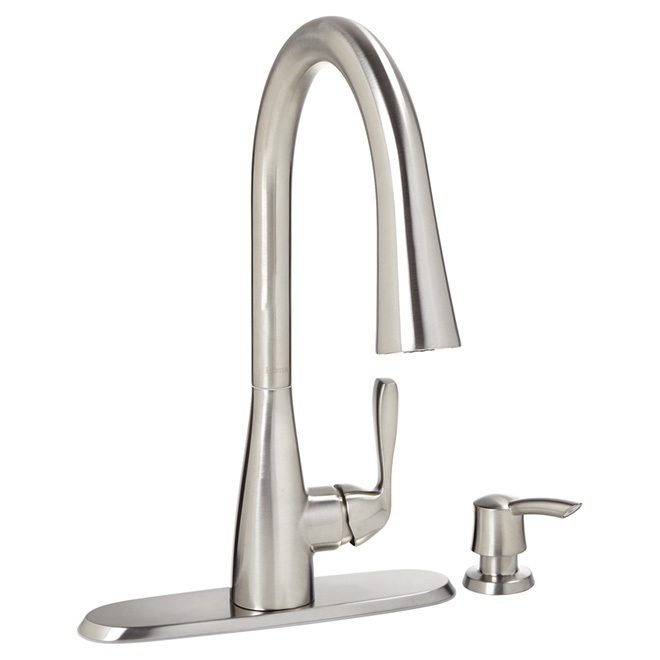 Lima Pull Out Kitchen Faucet - 2 Spray - Stainless
