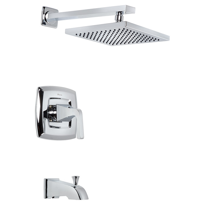 Showerhead and Tub Set -1 Spray - Chrome