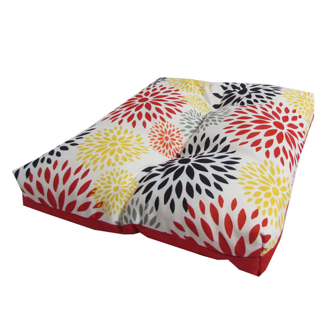 Outdoor Reversible Seat Cushion - Floral