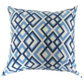 Outdoor Decorative Pillow - Geo Blue