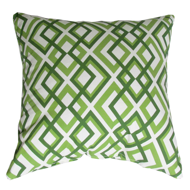 Outdoor Decorative Pillow - Geo Green