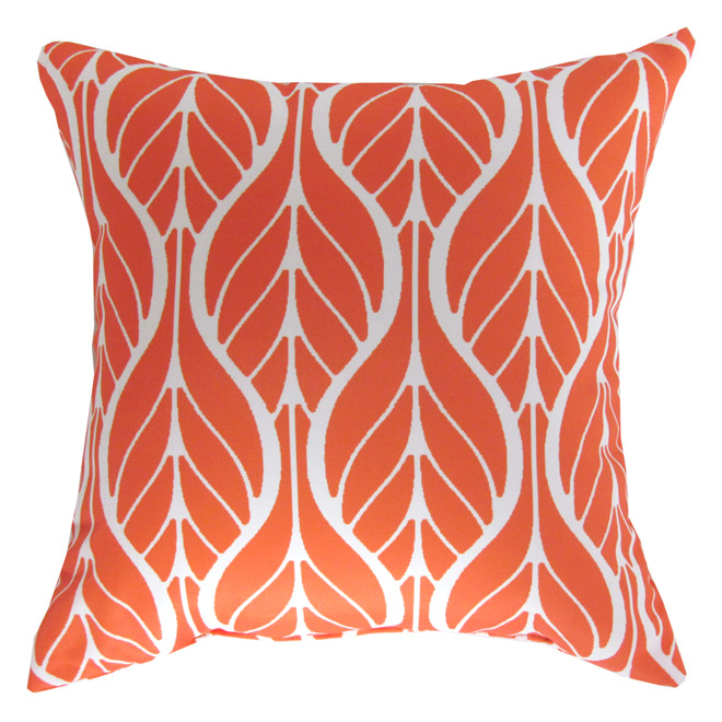 Outdoor Decorative Pillow - Orange Leaf