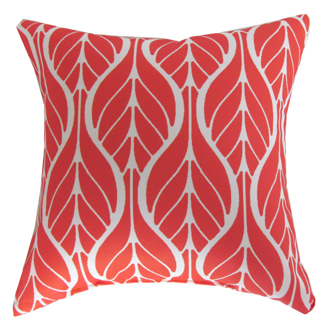 Outdoor Decorative Pillow - Red Leaf