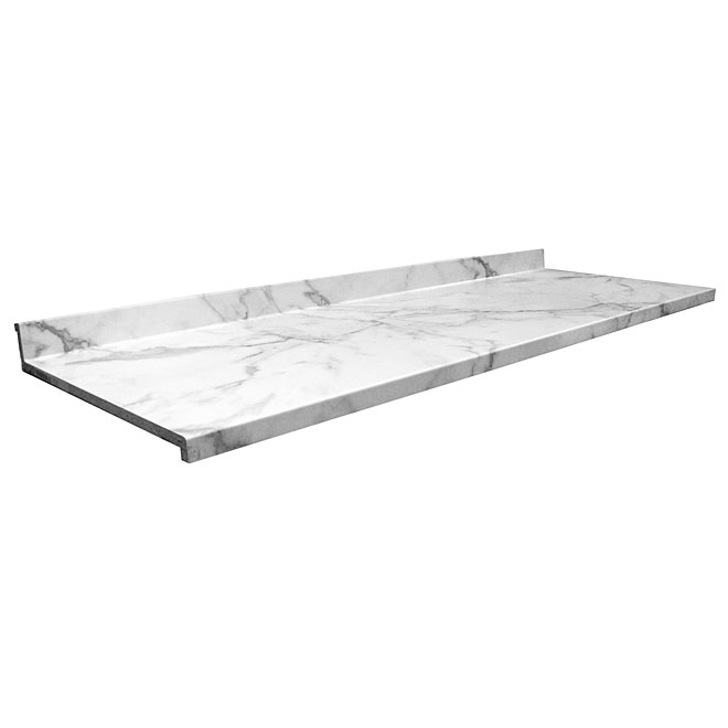 "Moulded Laminate Counter, Calacatta Marble, 25,5"" x 5'"