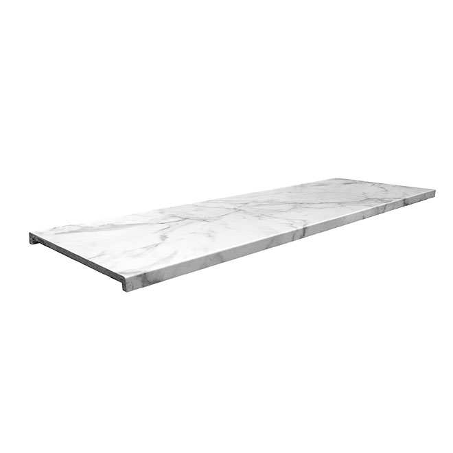 "Moulded Counter Marbella, Calacatta Marble, 27"" x 8'"