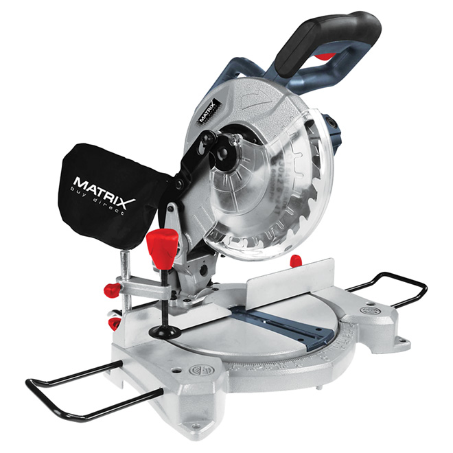"8 1/4"" 10 A Black and Red Aluminium Mitre Saw"