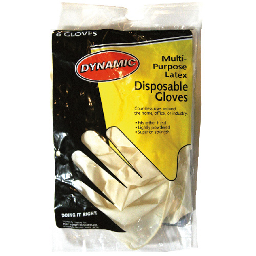 Disposabe latex gloves