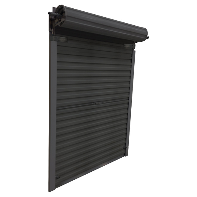 Roll Up Steel Door For Shed 5 X 6 Black Rona