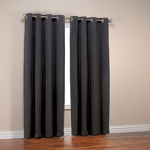 Black Horizontal Slub Grommets Panel