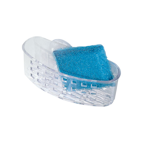 "Plastic Sponge Holder - ""Sinkworks"" - Clear"