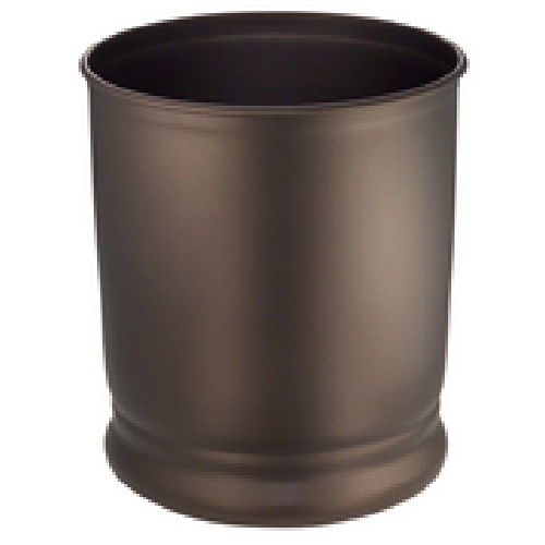 Cameo Bathroom Garbage Can - Bronze finish Metal