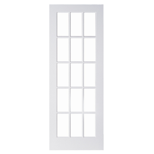 "15-Panel MDF French Door - 32"" x 80"""