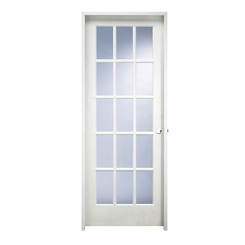 15 panel pre hung mdf french door 32 x 80 rona 32 inch interior french doors