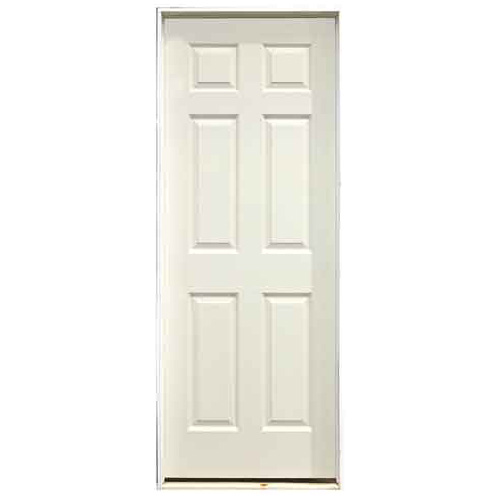 panel pre hung painted door 24 x 80 left rona. Black Bedroom Furniture Sets. Home Design Ideas