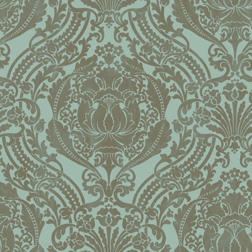 """Silk Damask"" Wallpaper"