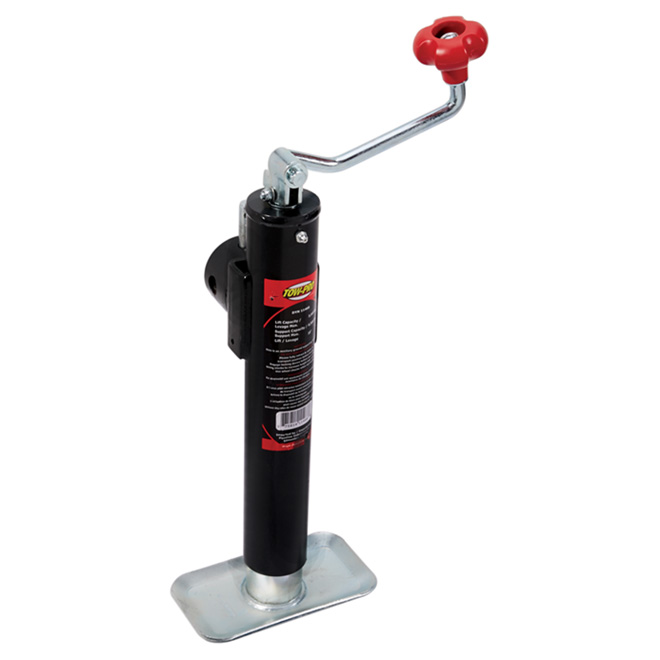 Top-Wind Round Tube Mount Jack - 6500 lb - 10""