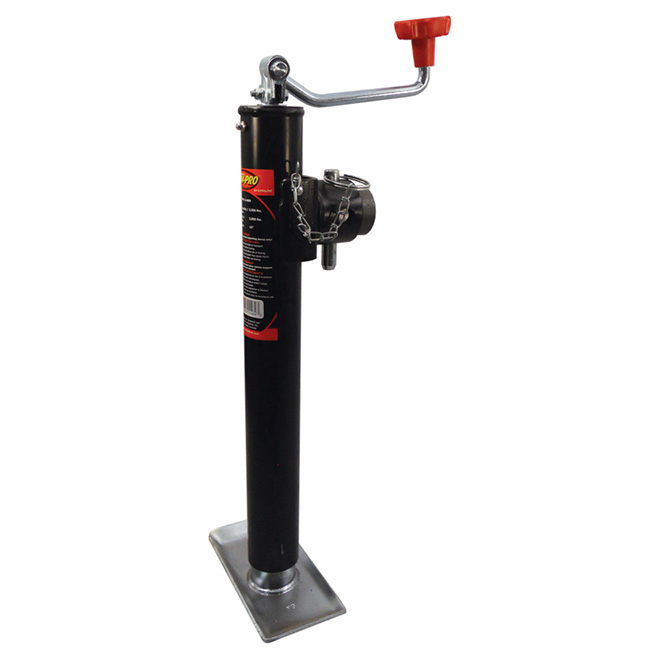 Top-Wind Round Tube Mount Jack - 6500 lb - 15""