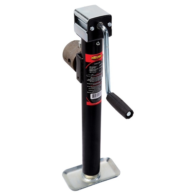 Side-Wind Round Tube Mount Jack - 6500 lb - 15""