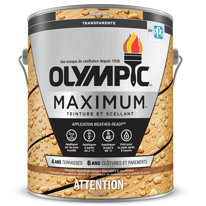 """Maximum Toner"" Stain and Sealant - Honey - 3.78 L"
