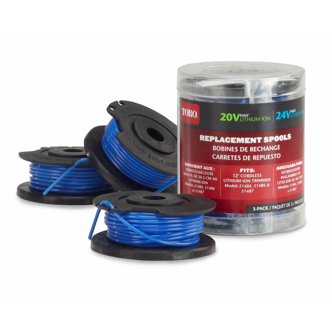 Replacement Line Spools for Trimmer - 3-Pack