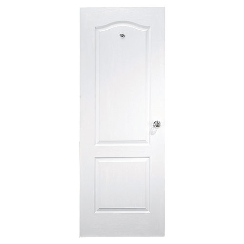 2 panel arch top slab door 16 x 80 white rona