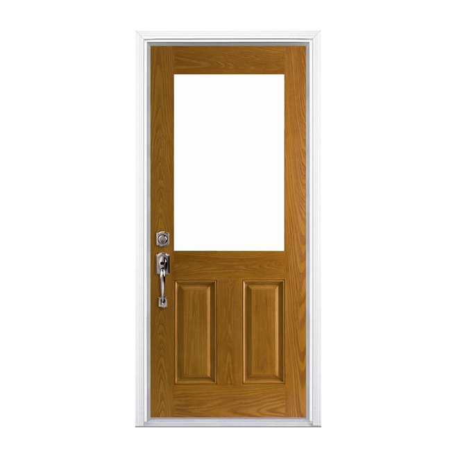Belleville fiberglass entry door rona for Masonite belleville door price