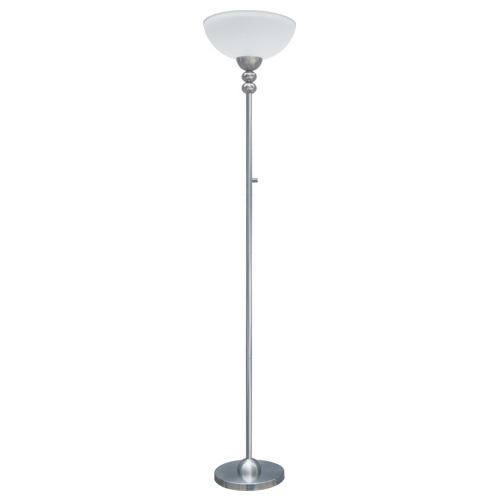 "Torchiere Lamp 72,8"" - Brushed Nickel"