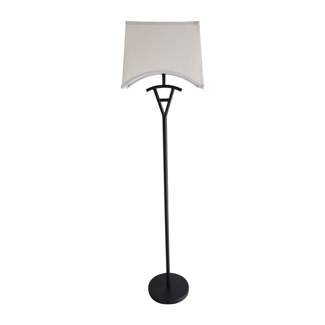 "Floor Lamp 57"" - Black/Beige"