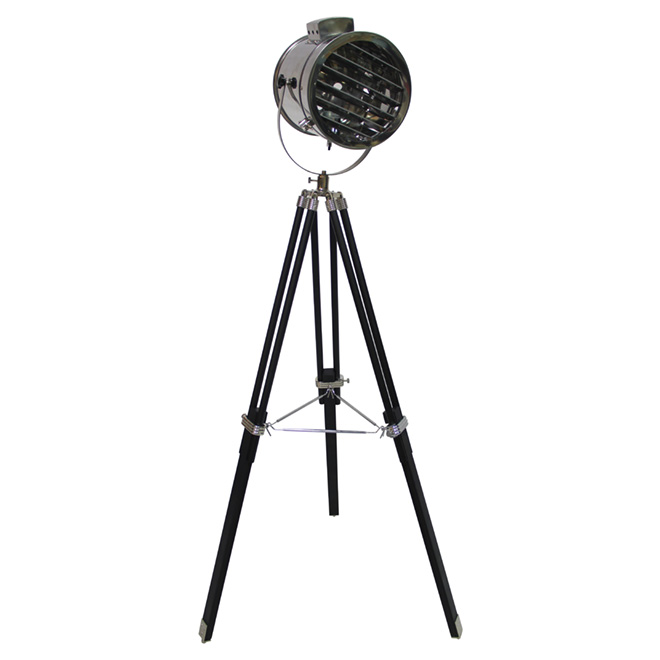 "Floor Lamp - Spotlight Style - 48,42"" - Black/Chrome"