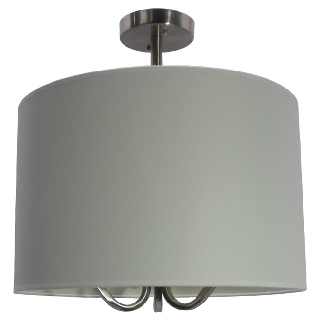 "3-Light Semi-Flushmount - 16"" x 18"" - Nickel"