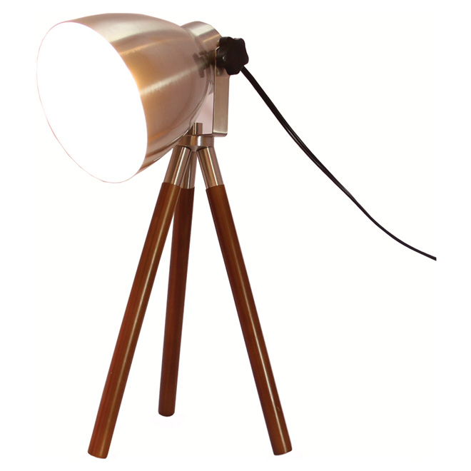 """Tripod"" Table Lamp - 21.5"" - Satin Nickel"