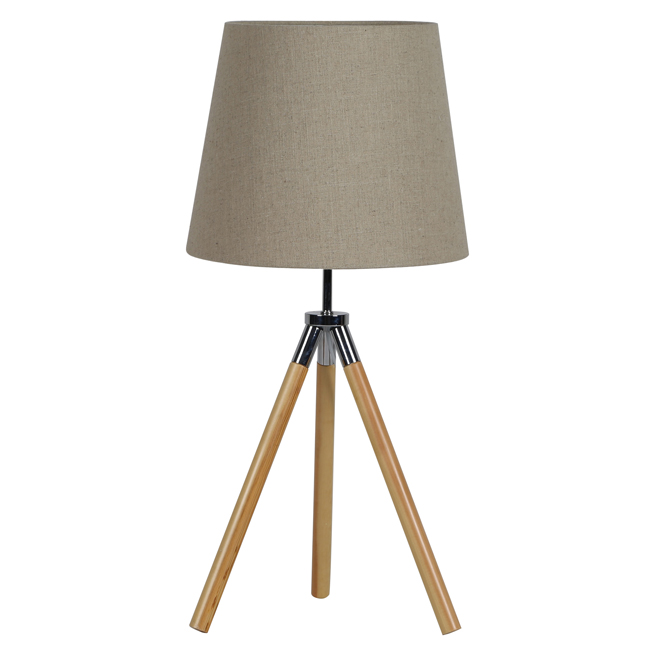 tripod table lamp natural rona. Black Bedroom Furniture Sets. Home Design Ideas