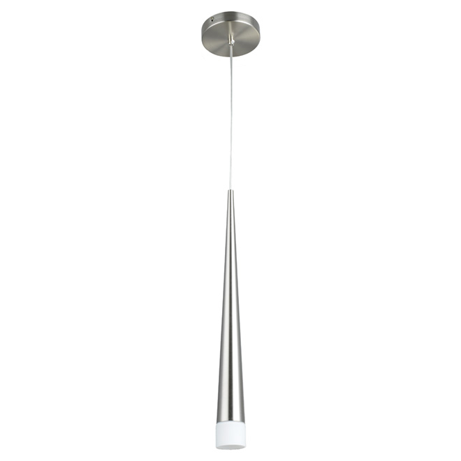excalibur 1 light pendant brushed steel rona. Black Bedroom Furniture Sets. Home Design Ideas