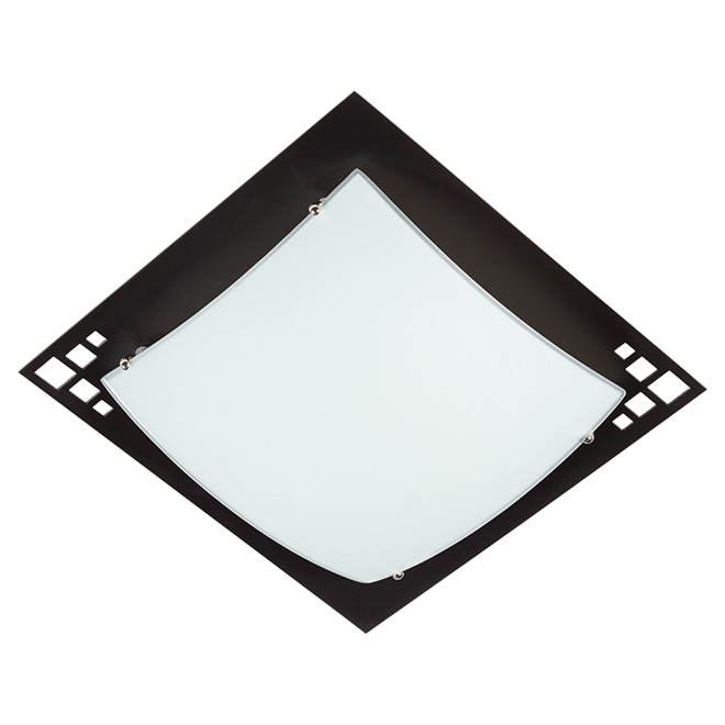 """Sudoku"" 2-Light Flush-Mount Light - 12.5"""