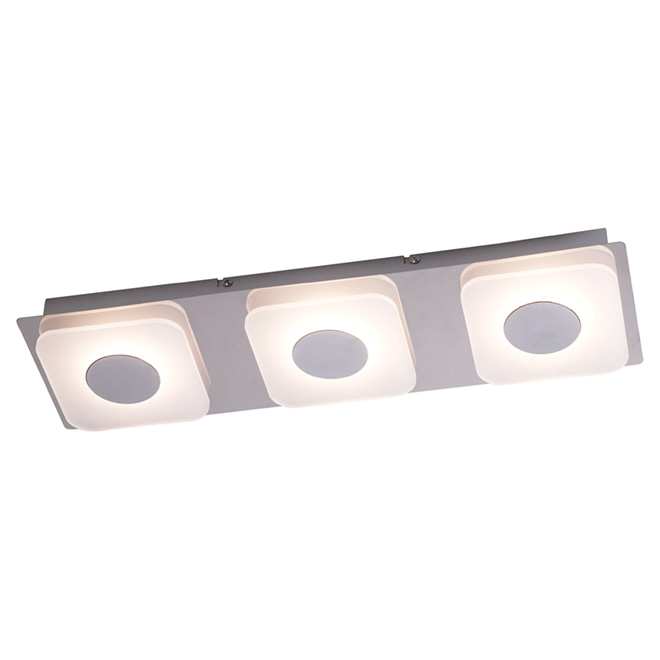 "1-Light LED Flush-Mount Light - 18.89"" - Chrome/White"
