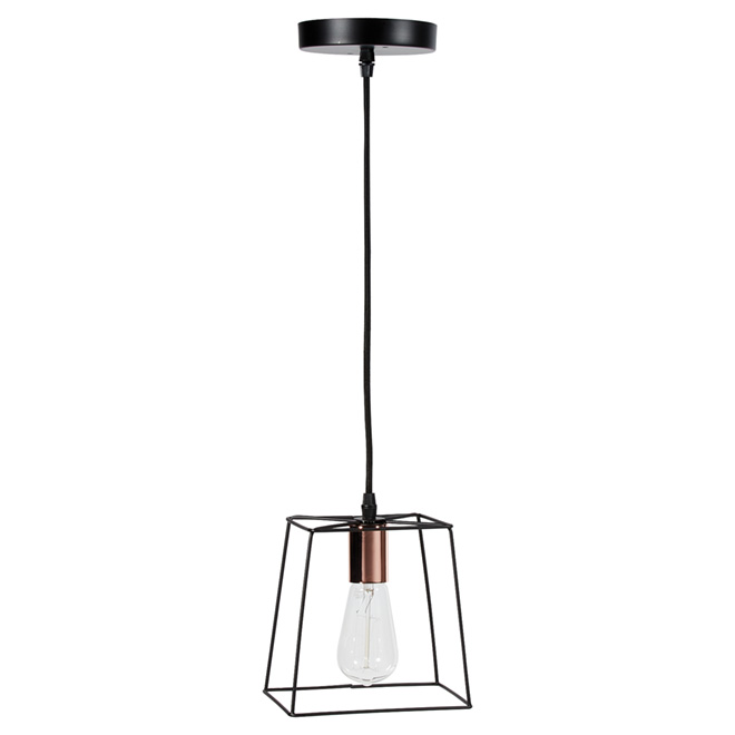 """Coppertech"" 1-Light Adjustable Pendant Light - 7"""