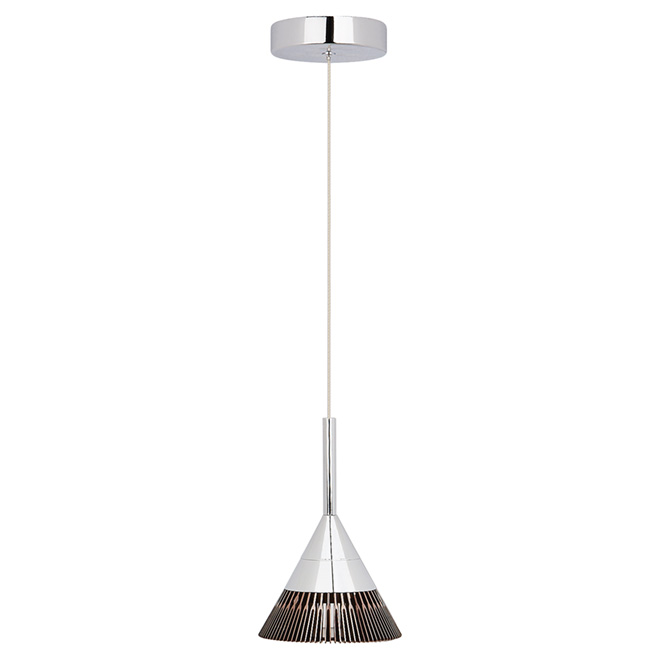 Oxydell 1-Light Pendant - Chrome/Coffee